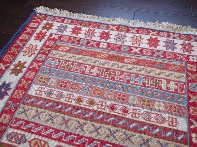 画像3: 手織りペルシャキリムF107玄関マットサイズ97×73ハンドメイドラグ