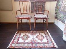 画像3: 手織りペルシャキリムF116玄関マットサイズ96×71ハンドメイドラグ (3)