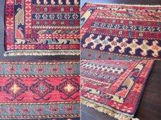 画像4: 手織りペルシャキリムF110玄関マットサイズ98×81ハンドメイドラグ (4)