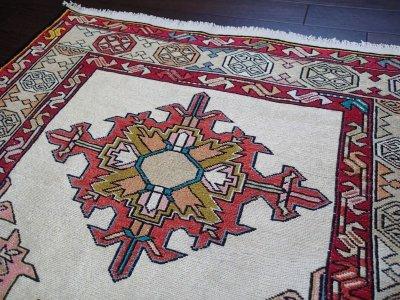 画像3: 手織りペルシャキリムF116玄関マットサイズ96×71ハンドメイドラグ