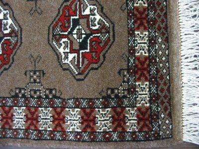 画像2: 新品 トルクメン ペルシャ 絨毯 アクセント サイズ 128 × 79 203 トライバル ラグ 天然 ウール 敷物 マット カーペット 赤 茶