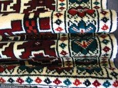 画像6: 新品 トルクメン ペルシャ 絨毯 アクセント サイズ 120 × 78 205 トライバル ラグ 天然 ウール 敷物 マット カーペット 赤 クリーム 白 (6)