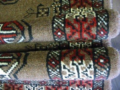 画像3: 新品 トルクメン ペルシャ 絨毯 アクセント サイズ 128 × 79 203 トライバル ラグ 天然 ウール 敷物 マット カーペット 赤 茶