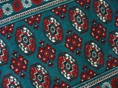 画像5: 新品 トルクメン ペルシャ 絨毯 アクセント サイズ 122 × 78 cm 187 トライバル ラグ 天然 ウール 敷物 マット カーペット 赤 緑 (5)