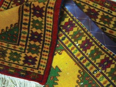 画像3: 新品 トルクメン ペルシャ 絨毯 アクセント サイズ 119 × 74 cm E38 トライバル ラグ 天然 ウール 敷物 マット カーペット 黄 緑 赤