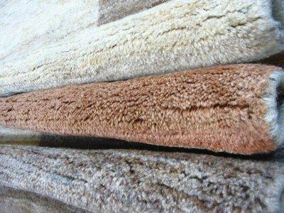 画像2: ペルシャ ギャッベ リビング サイズ 217 x 165 cm F175 ハンドメイド 天然 ウール 手織り ラグ マット 絨毯 カーペット モザイク パターン マルチ カラー クリーム 茶 青