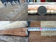 画像6: ペルシャ ギャッベ リビング サイズ 217 x 165 cm F175 ハンドメイド 天然 ウール 手織り ラグ マット 絨毯 カーペット モザイク パターン マルチ カラー クリーム 茶 青 (6)