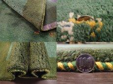 画像10: 新品 ペルシャ ギャッベ リビング サイズ ラグ 180 x 148 cm 20 ハンドメイド ギャベ 天然 ウール 手織り 絨毯 カーペット ナチュラル 緑 グリーン シンプル 動物 柄 (10)