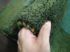 画像7: 新品 ペルシャ ギャッベ リビング サイズ ラグ 180 x 148 cm 20 ハンドメイド ギャベ 天然 ウール 手織り 絨毯 カーペット ナチュラル 緑 グリーン シンプル 動物 柄 (7)