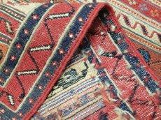 画像7: ペルシャ キリム グーチャン 1m 玄関 マット サイズ 100 x 52 cm 133 スマック 手織り トライバル ラグ 天然 ウール マット 絨毯 カーペット カラフル (7)
