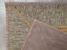画像9: ペルシャ キリム パッチワーク ラグ 玄関 マット サイズ 92 x 64  cm 1764 平織り 天然 ウール 絨毯 敷物 カーペット 茶 灰 赤 黄 マルチ カラー (9)