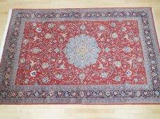 画像3: 美品 ペルシャ 絨毯 サルーク 3.4m リビング ダイニング 大判 サイズ 333 x 218 cm n239 ウール 手織り トライバル ラグ ハンドメイド マット カーペット 淡色 水色 赤 紺 ヴィンテージ (3)
