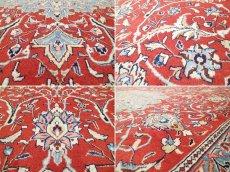 画像16: 美品 ペルシャ 絨毯 サルーク 3.4m リビング ダイニング 大判 サイズ 333 x 218 cm n239 ウール 手織り トライバル ラグ ハンドメイド マット カーペット 淡色 水色 赤 紺 ヴィンテージ (16)