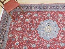 画像2: 美品 ペルシャ 絨毯 サルーク 3.4m リビング ダイニング 大判 サイズ 333 x 218 cm n239 ウール 手織り トライバル ラグ ハンドメイド マット カーペット 淡色 水色 赤 紺 ヴィンテージ (2)