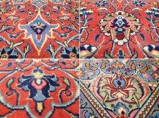 画像16: 美品 ペルシャ 絨毯 サルーク 3.4m リビング ダイニング 大判 サイズ 335 x 238 cm n240 ウール 手織り トライバル ラグ ハンドメイド マット カーペット 水色 赤 紺 ヴィンテージ (16)