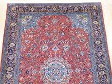 画像6: 美品 ペルシャ 絨毯 サルーク 3.4m リビング ダイニング 大判 サイズ 335 x 238 cm n240 ウール 手織り トライバル ラグ ハンドメイド マット カーペット 水色 赤 紺 ヴィンテージ (6)