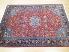 画像3: 美品 ペルシャ 絨毯 サルーク 3.4m リビング ダイニング 大判 サイズ 335 x 238 cm n240 ウール 手織り トライバル ラグ ハンドメイド マット カーペット 水色 赤 紺 ヴィンテージ (3)