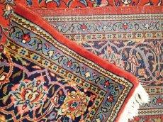画像14: 美品 ペルシャ 絨毯 サルーク 3.4m リビング ダイニング 大判 サイズ 335 x 238 cm n240 ウール 手織り トライバル ラグ ハンドメイド マット カーペット 水色 赤 紺 ヴィンテージ (14)