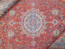 画像1: 美品 ペルシャ 絨毯 サルーク 3.4m リビング ダイニング 大判 サイズ 335 x 238 cm n240 ウール 手織り トライバル ラグ ハンドメイド マット カーペット 水色 赤 紺 ヴィンテージ (1)