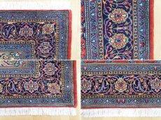 画像19: 美品 ペルシャ 絨毯 サルーク 3.4m リビング ダイニング 大判 サイズ 335 x 238 cm n240 ウール 手織り トライバル ラグ ハンドメイド マット カーペット 水色 赤 紺 ヴィンテージ (19)