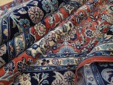 画像15: 新品 ペルシャ 絨毯 サルーク 3.5m リビング ダイニング 大判 6畳 3人掛けソファ サイズ 350 x 250 cm 111 ウール 手織り トライバル ラグ ハンドメイド マット カーペット 淡色 水色 赤 オレンジ 紺 (15)