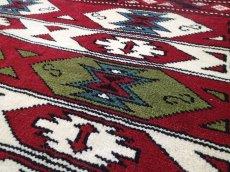 画像13: 新品 ペルシャ 絨毯 トルクメン リビング センター サイズ 2m 6畳 2人掛け ソファ サイズ 190 x 130 cm z180 ウール 天然 手織り トライバル ラグ 敷物 マット カーペット クリーム 民族 柄 ベッドサイドにもおすすめのサイズ (13)