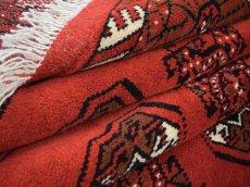 画像13: 新品 ペルシャ 絨毯 トルクメン 縦3m 6? 6帖 リビング ダイニング 3人掛けソファ サイズ 291 x 201 cm A119 天然 肉厚 ウール 手織り ハンドメイド トライバル ラグ マット カーペット 赤 幾何学模様 民族柄 (13)