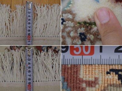 画像3: 新品 ペルシャ 絨毯 タブリーズ産 縦3.2m 6.2? 6畳 リビング ダイニング 3人掛けソファ サイズ  314 x 196 cm No.220 天然 肉厚 ウール シルク 手織り トライバル ラグ 敷物 マット カーペット