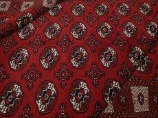 画像1: 新品 ペルシャ 絨毯 トルクメン 縦3m 6㎡ 6帖 リビング ダイニング 3人掛けソファ サイズ 295 x 196 cm No.A127 天然 肉厚 ウール 手織り ハンドメイド トライバル ラグ マット カーペット 赤 幾何学模様 民族柄 (1)