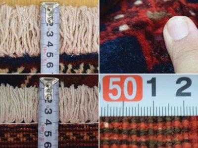 画像3: 良品 ペルシャ 絨毯 シールジャーン 縦2.8m 5.3㎡ 4.5帖 リビング ダイニング 3人掛けソファ サイズ 280 x 187 cm E130 天然 肉厚 ウール 手織り ハンドメイド トライバル ラグ 部族絨毯 マット カーペット 民族柄 ギャッベ(ギャベ)をお探しの方にもお勧めです