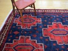 画像2: 良品 ペルシャ 絨毯 シールジャーン 縦2.8m 5.3㎡ 4.5帖 リビング ダイニング 3人掛けソファ サイズ 280 x 187 cm E130 天然 肉厚 ウール 手織り ハンドメイド トライバル ラグ 部族絨毯 マット カーペット 民族柄 ギャッベ(ギャベ)をお探しの方にもお勧めです (2)