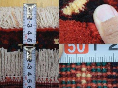画像2: 美品 ペルシャ 絨毯 シールジャーン 縦2.1m 3.3㎡ 3帖 リビング ダイニング 2〜3人掛けソファ サイズ 210 x 158 cm E103 天然 ウール 手織り ハンドメイド トライバル ラグ 部族絨毯 マット カーペット 赤 民族柄 ギャッベ(ギャベ)をお探しの方にもお勧めです