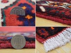 画像20: 美品 ペルシャ 絨毯 シールジャーン 縦2.1m 3.3㎡ 3帖 リビング ダイニング 2〜3人掛けソファ サイズ 210 x 158 cm E103 天然 ウール 手織り ハンドメイド トライバル ラグ 部族絨毯 マット カーペット 赤 民族柄 ギャッベ(ギャベ)をお探しの方にもお勧めです (20)