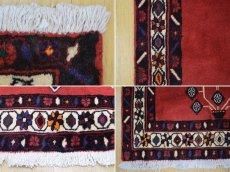 画像18: 美品 ペルシャ 絨毯 シールジャーン 縦2.1m 3.3㎡ 3帖 リビング ダイニング 2〜3人掛けソファ サイズ 210 x 158 cm E103 天然 ウール 手織り ハンドメイド トライバル ラグ 部族絨毯 マット カーペット 赤 民族柄 ギャッベ(ギャベ)をお探しの方にもお勧めです (18)