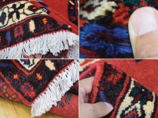 画像19: 美品 ペルシャ 絨毯 シールジャーン 縦2.1m 3.3㎡ 3帖 リビング ダイニング 2〜3人掛けソファ サイズ 210 x 158 cm E103 天然 ウール 手織り ハンドメイド トライバル ラグ 部族絨毯 マット カーペット 赤 民族柄 ギャッベ(ギャベ)をお探しの方にもお勧めです (19)