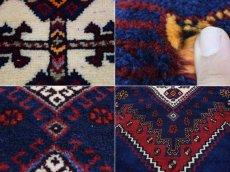 画像14: 良品 ペルシャ 絨毯 シールジャーン 縦2.6m 4.7㎡ 3帖〜 リビング ダイニング 3人掛けソファ サイズ 260 x 180 cm E118 天然 ウール 手織り ハンドメイド トライバル ラグ 部族絨毯 マット カーペット 動物 柄 幾何学模様 民族柄 ギャッベ(ギャベ)をお探しの方にもお勧めです (14)