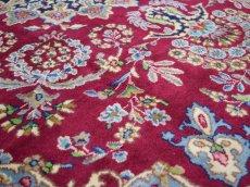 画像11: 美品 ペルシャ 絨毯 ケルマン産 縦3.4m 横2.4m 8.2㎡ 6帖 リビング ダイニング 客室 大判 サイズ 340 x 240 cm No.F157 天然 ウール 手織り ハンドメイド ラグ マット カーペット ワインレッド 赤紫 大きなお部屋に 中古品に抵抗のある方にもおすすめです。 (11)