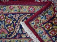 画像14: 美品 ペルシャ 絨毯 ケルマン産 縦3.4m 横2.4m 8.2㎡ 6帖 リビング ダイニング 客室 大判 サイズ 340 x 240 cm No.F157 天然 ウール 手織り ハンドメイド ラグ マット カーペット ワインレッド 赤紫 大きなお部屋に 中古品に抵抗のある方にもおすすめです。 (14)