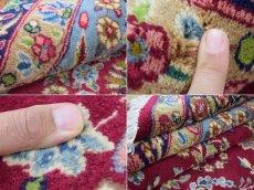 画像18: 美品 ペルシャ 絨毯 ケルマン産 縦3.4m 横2.4m 8.2㎡ 6帖 リビング ダイニング 客室 大判 サイズ 340 x 240 cm No.F157 天然 ウール 手織り ハンドメイド ラグ マット カーペット ワインレッド 赤紫 大きなお部屋に 中古品に抵抗のある方にもおすすめです。 (18)