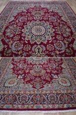 画像3: 美品 ペルシャ 絨毯 ケルマン産 縦3.4m 横2.4m 8.2㎡ 6帖 リビング ダイニング 客室 大判 サイズ 340 x 240 cm No.F157 天然 ウール 手織り ハンドメイド ラグ マット カーペット ワインレッド 赤紫 大きなお部屋に 中古品に抵抗のある方にもおすすめです。 (3)
