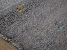画像13: 新品 ペルシャ ギャッベ 縦1.2m アクセント ラグ サイズ 115 x 80 cm No.468 肉厚 天然 草木染 ウール 手織り ハンドメイド ギャベ マット カーペット 動物 鹿 民族柄 グレー グラデーション n-468-11580s57 (13)