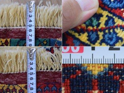 画像3: 美品 ペルシャ 絨毯 グーチャン 産  縦1.3m 横1.1m 1.4㎡ アクセントラグ サイズ 128 x 108 cm No.520 天然 ウール シルク 手織り トライバル ラグ 敷物 マット カーペット メダリオン ヴィンテージ ビンテージ 中古品に抵抗のある方にもおすすめです。 s-520-128108s003-004