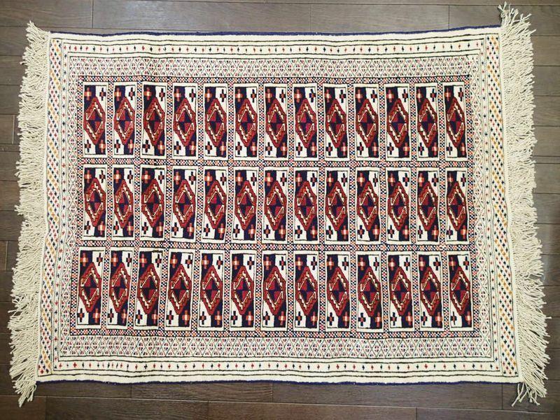 トルクメン ペルシャ 絨毯 1.2m ...