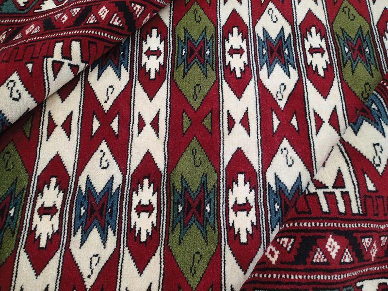 画像1: 新品 ペルシャ 絨毯 トルクメン リビング センター サイズ 2m 6畳 2人掛け ソファ サイズ 190 x 130 cm z180 ウール 天然 手織り トライバル ラグ 敷物 マット カーペット クリーム 民族 柄 ベッドサイドにもおすすめのサイズ (1)