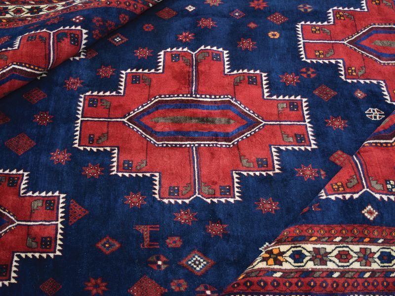 画像1: 良品 ペルシャ 絨毯 シールジャーン 縦2.8m 5.3㎡ 4.5帖 リビング ダイニング 3人掛けソファ サイズ 280 x 187 cm E130 天然 肉厚 ウール 手織り ハンドメイド トライバル ラグ 部族絨毯 マット カーペット 民族柄 ギャッベ(ギャベ)をお探しの方にもお勧めです (1)